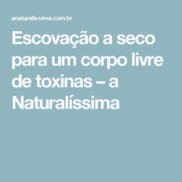Escovação a seco para um corpo livre de toxinas – a Naturalíssima