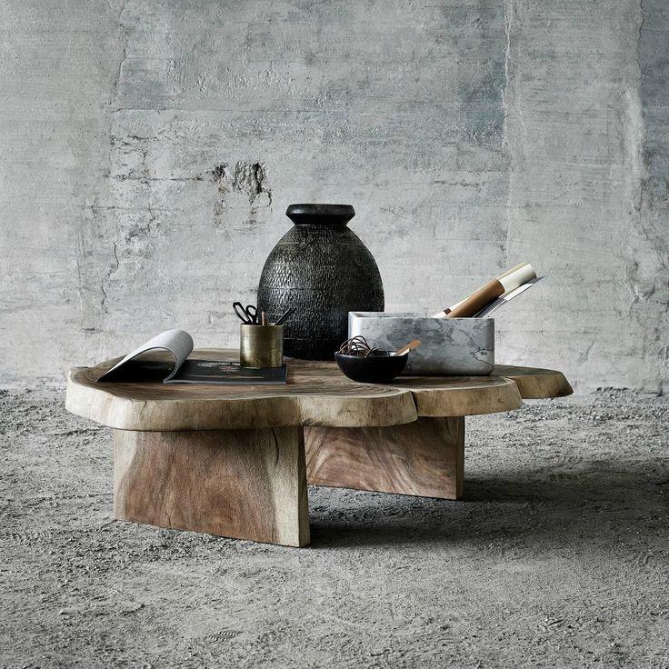 Masuta de cafea din lemn de suar