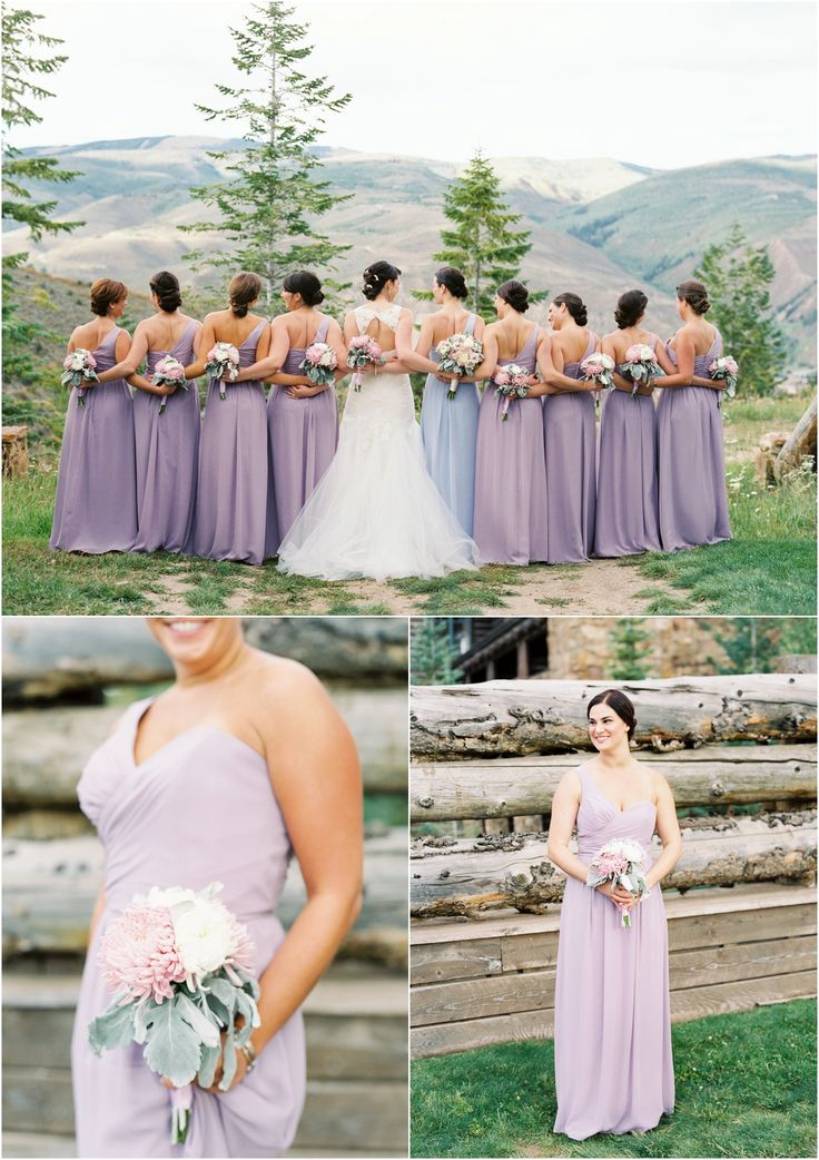 Pretty Purple Bridesmaids At This Mountain Wedding The Ritz Carlton Bachelor Gulch In Beaver