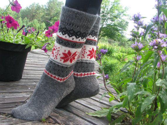 knit socks wool socks knitted socks Scandinavian by WoolMagicShop