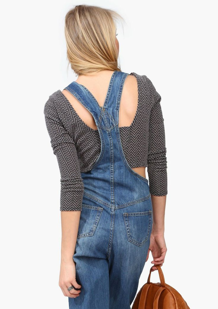Cropped Sweater + Overalls
