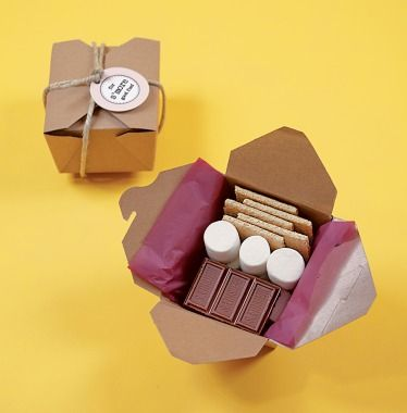 Smores favors: Thank you for attending Madeline's birthday bash! Here is a little something to have s'more fun at home!