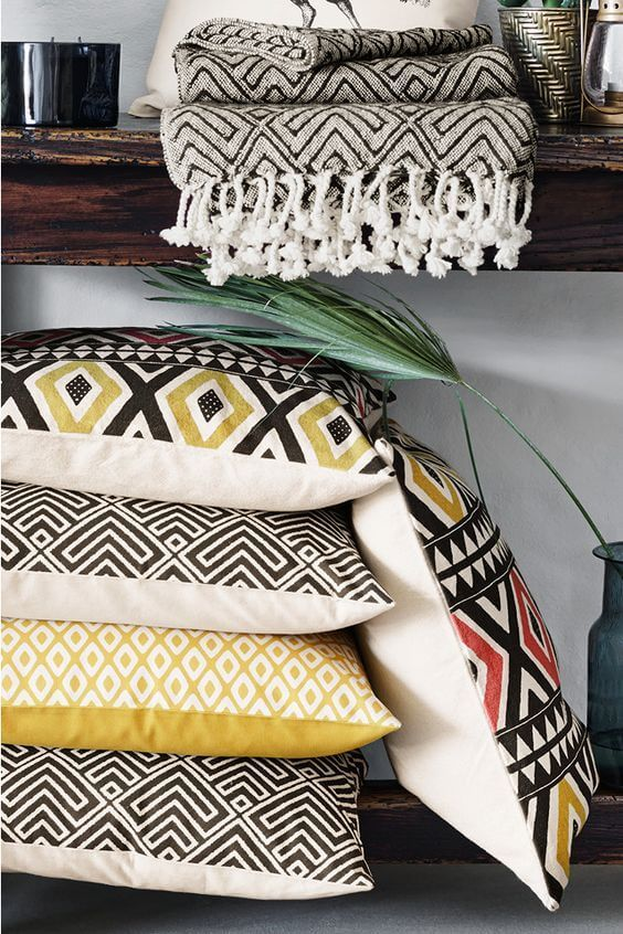 Tribal Pattern Cushions - Scandinavian Interiors