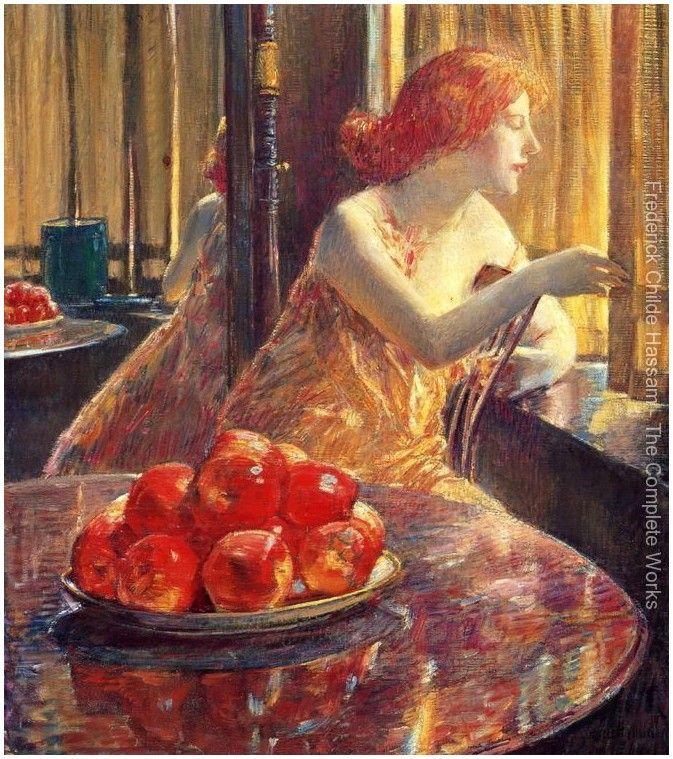 Художник Frederick Childe Hassam | 1859-1919гг.. Обсуждение на LiveInternet - Российский Сервис Онлайн-Дневников Reflections (Kitty Hughes).