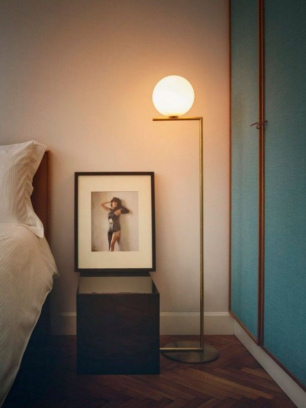 237 best our lamps images on pinterest lamps artworks and attic the flos ic floor lamp is a beautifully elegant light designed by michael anastassiades and available in brushed brass or chrome aloadofball Images