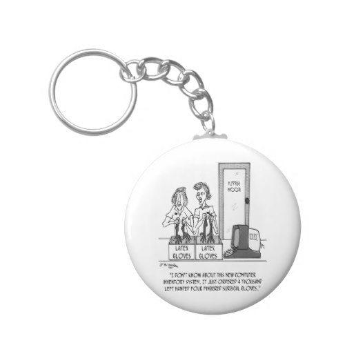 Hospital Cartoon 1830 Keychain