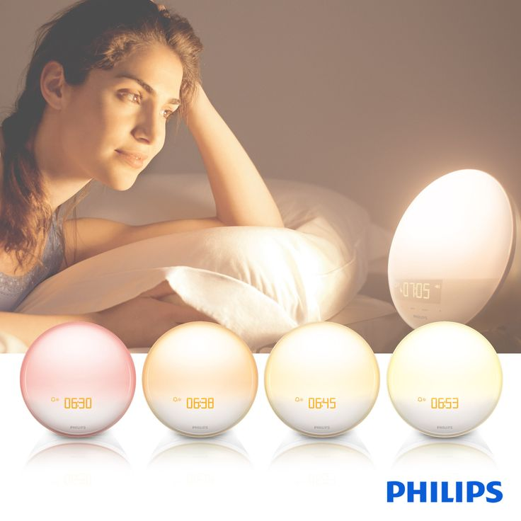 Philips Wake-up Light with Colored Sunrise Simulation