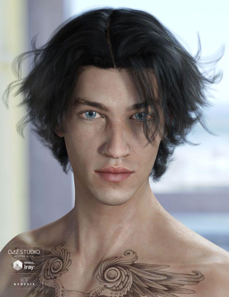 Heath Hair For Genesis 3 Male S Amp Female S Genesis 3