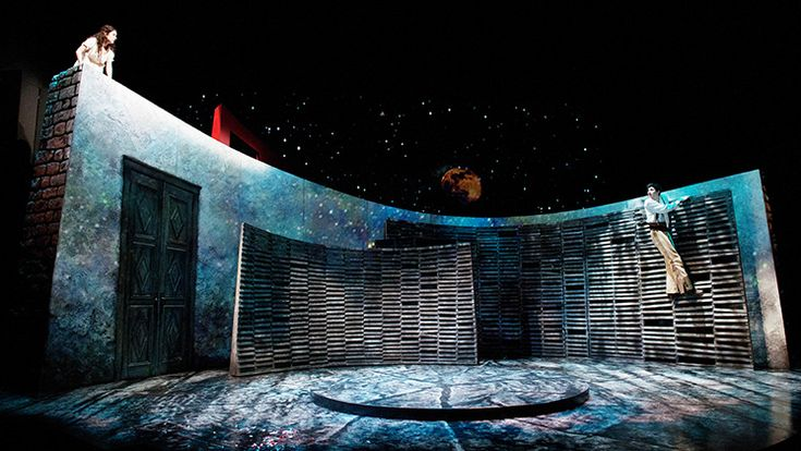 The set for the Oregon Shakespeare Festival's production of Romeo and Juliet. (Which was AMAZING!!!!)