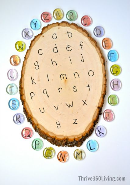 Kids need to help make this for preschool... Gem Alphabet Game