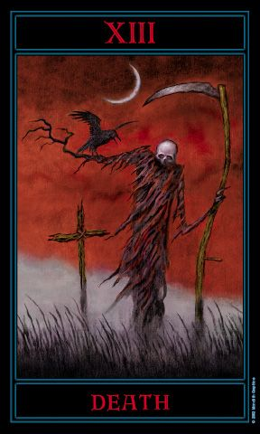 Death from The Gothic Tarot by Joseph Vargo