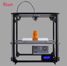 Flsun Grote Afdrukken Size 3d Printer Volledige Metalen Frame 3d-Printer Kit Twee Rollen Filament Sd-kaart Met Verwarmde Bed(China (Mainland))