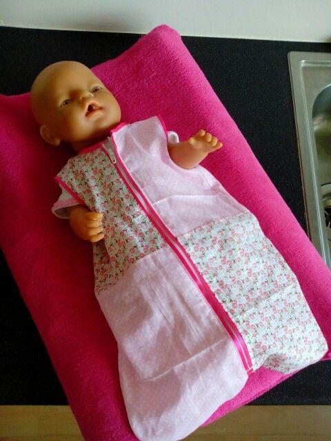 Verschoningskussen en slaapzak voor babyborn