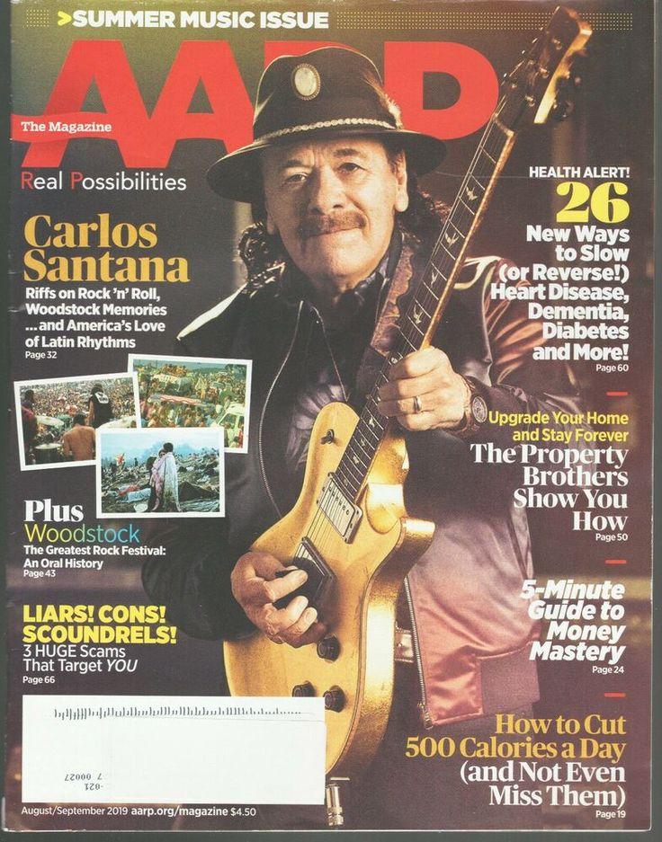 AARP The Magazine August/September 2019 Carlos Santana