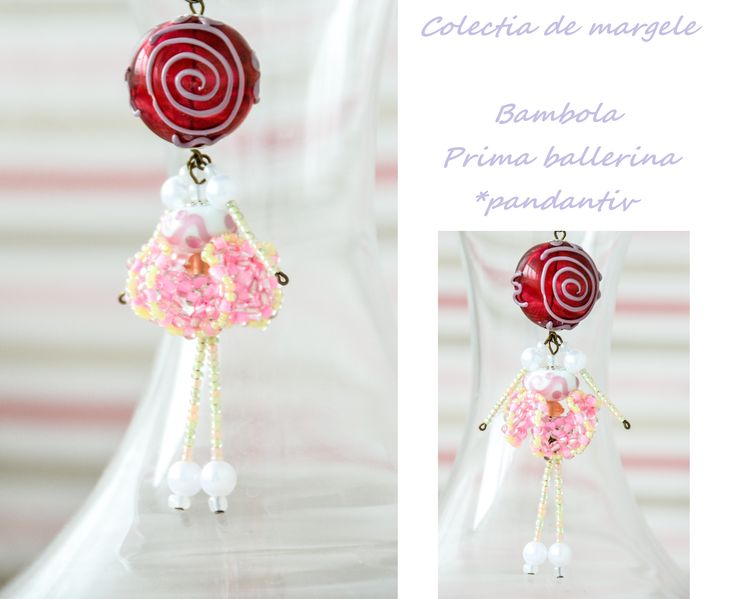 Bambola Prima Ballerina by Colectia de margele  Please visit https://www.facebook.com/pages/Colectia-de-margele/1392796917646011