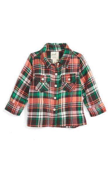 Peek Montana Flannel Shirt (Baby Girls) available at #Nordstrom