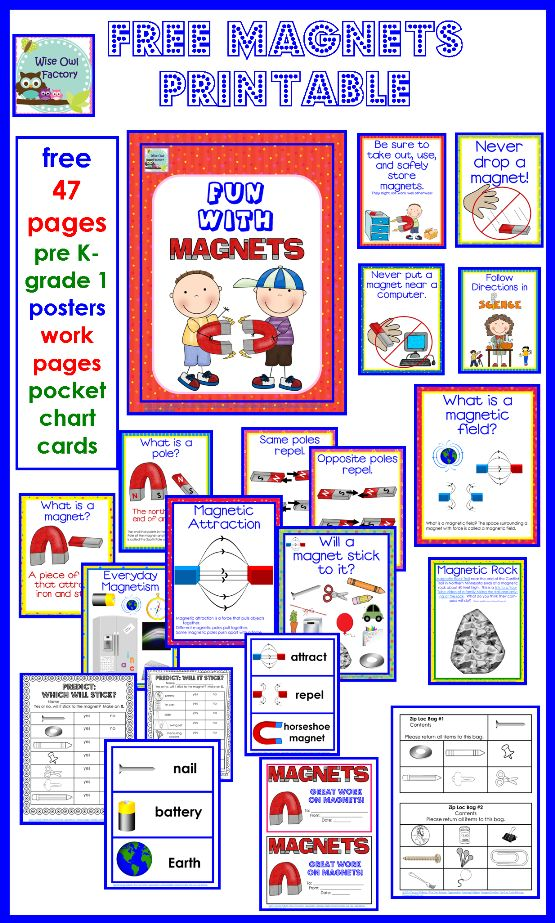 Free 47 pages PreK-1st grade posters, worksheets, pocket chart cards and more