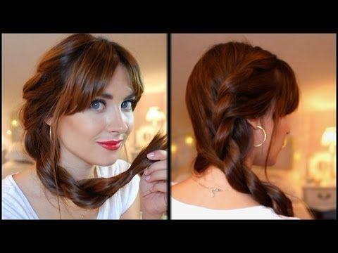Peinado fácil para diario: trenza retorcida paso a paso. Easy everyday hairstyle: twist braid - YouTube
