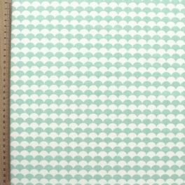 Tissu en coton imprimé d'écailles vert menthe