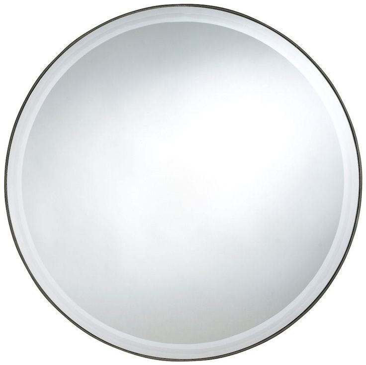 Seymour extra large round wall mirror 29 inches for Extra large round mirror