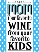 Mother's Day wine bottle label free printable wine labels and tags at thewinecrafter.com funny retro birthday halloween christmas movie inspired etc