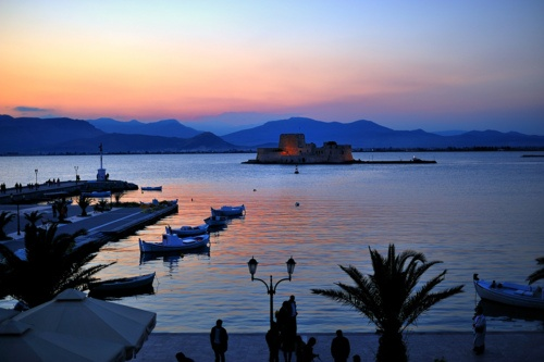 Dusk at Bourtzi ~ Nafplio, Greece