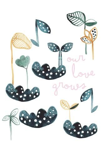 Our Love Grows Children's Print - Wonder and Rah