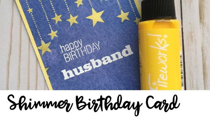 Learn How to Create Your Own Color Shimmer Paste. If you like the look of shimmer paste but don't want to buy multiple colors, then try mixing your Fireworks Sprays with Imagine's Creative Medium to make your own! In this project, I wanted to create a festive looking birthday card and I thought the high contrast yellow and blue were a great color combination.