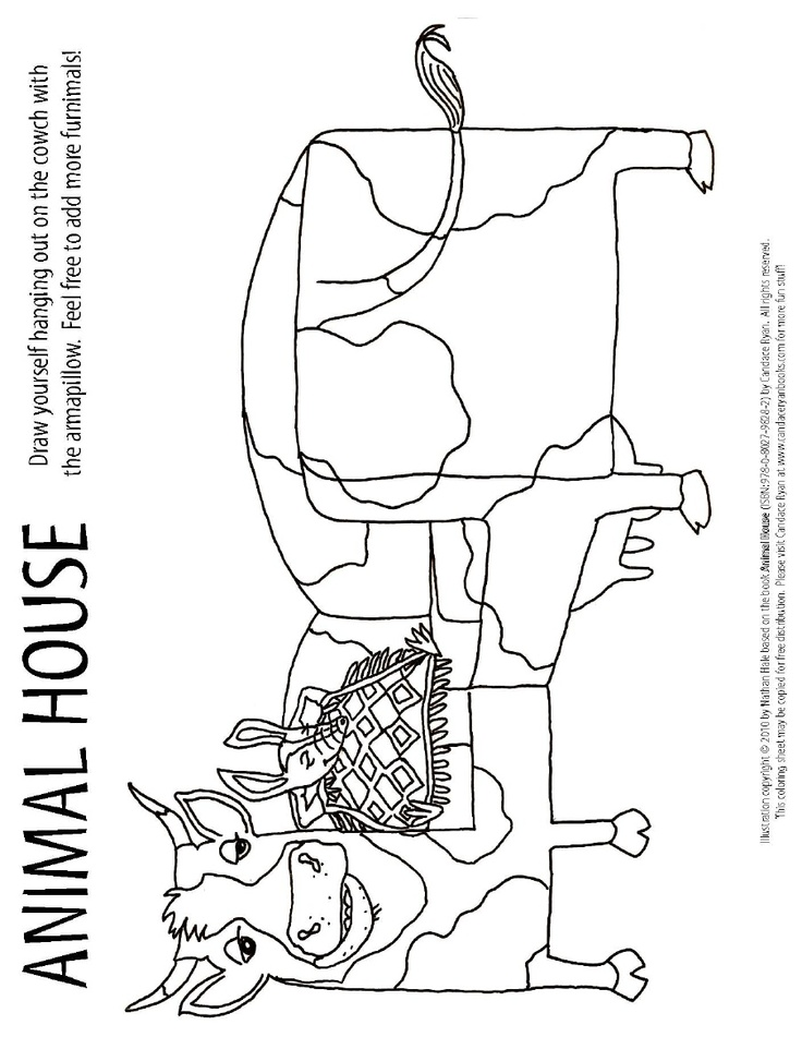 Candace Ryans ANIMAL HOUSE Coloring Activity Sheet 2