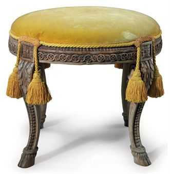 A LOUIS XVI WALNUT TABOURET  ATTRIBUTED TO GEORGES JACOB, CIRCA 1780