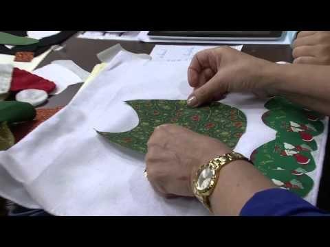 Pano de Copa : tema Natal – Maria Helena Gobbi – Parte 1   Cantinho do Video