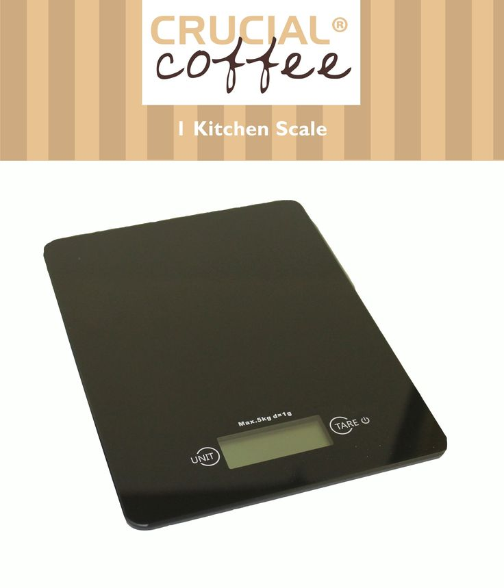 Digital Multifunction Kitchen Coffee/Food Scale Measures Grams Ounces Kilograms Ounces g kg lb:oz & oz Great 4 Travel Black Designed by Crucial Coffee. Automatic Unit Button instantly converts from ounces to grams (oz. to g), pounds to kilograms (lbs. to kg) and displays results on the LCD screen. Features a newly enlarged weighing platform finished in elegant black. Runs on 1 lithium batteries (included). Precision Tare Button calculates the net weight of your ingredients (automatically...