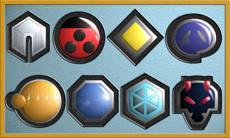 Johto Badges by Zexion21