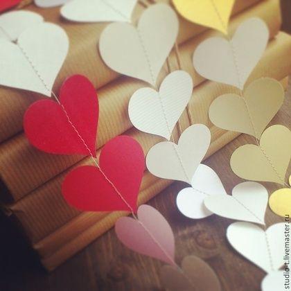 Бумажная гирлянда для декора, аренда для свадьбы, сердце, круг, цветок -