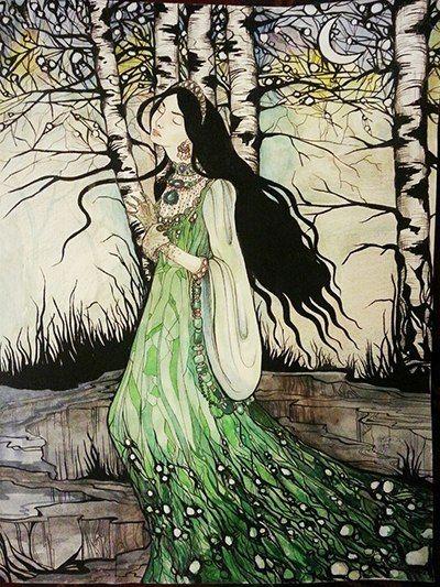 artist Marina Kozinaki Illustration for Bajov's fairy-tales
