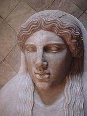 Sepulkralfigur als Teil eines phönizischen Sakrophags aus Palermo