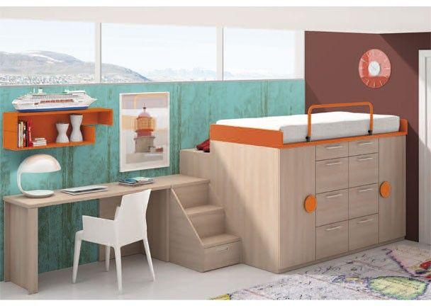 Mejores 53 im genes de mobiliario juvenil tonos naranja en for Mobiliario dormitorio infantil