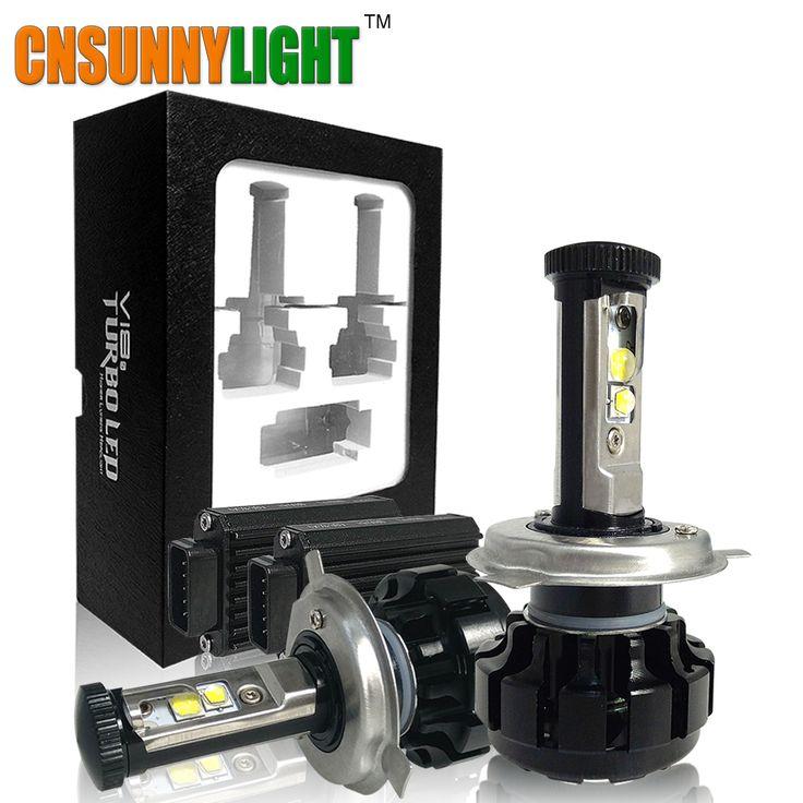 12000LM Super Terang Mobil DIPIMPIN Lampu Kit H4 HB2 9003 H13 9007 w/Cree Chip Ganti Bulb Anti-Dazzle Beam 3000 K 4300 K 6000 K