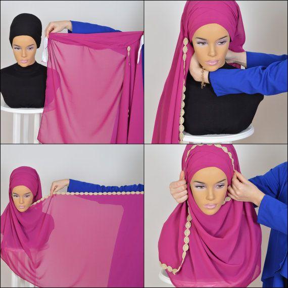 Chiffon Express Hijab Code:CPS-0024 Muslim Women by HAZIRTURBAN