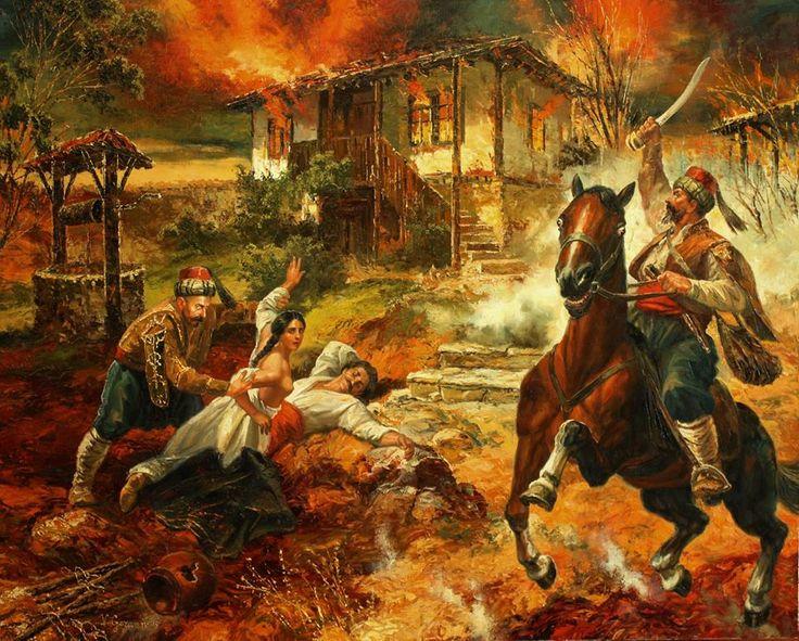 БАТАК 1876 г. маслени бои, платно Васил Горанов