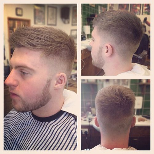 More morning practice! Mid fade with neck taper and a beard tidy up. Styled with good old @uppercutdeluxe #barber #barbering #barbergang #barberlife #juniorbarber #barbershopconnect #ukbarber #midfade #fade #cutthroatrazor #beard #beardtrim #menshair...