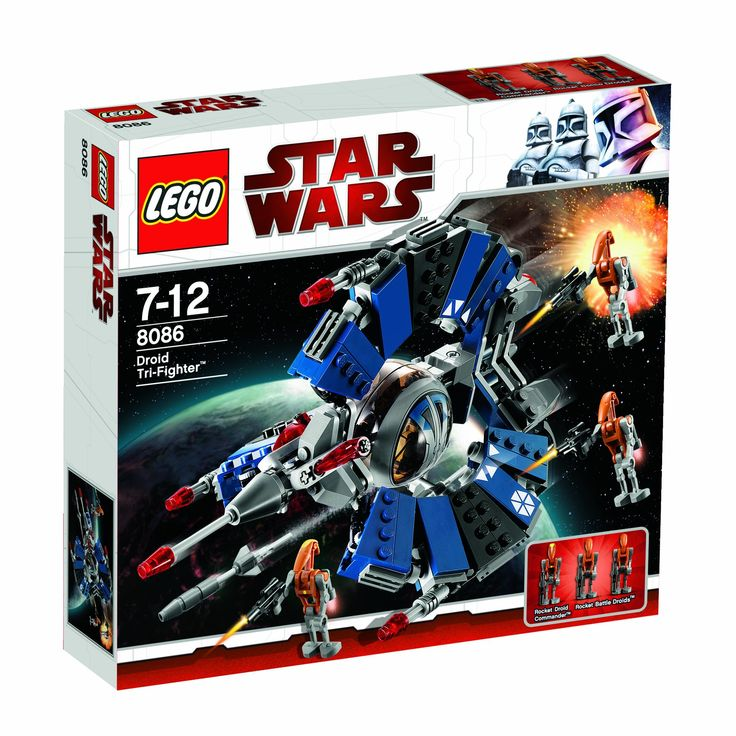 lego star wars lego star wars 8086 droid tri fighter le vaisseau droide de