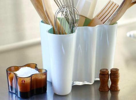 Design Sleuth: Aalto Vase as Utensil Holder : Remodelista