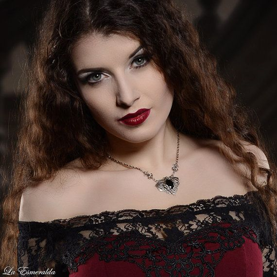 Silver victorian gothic flourish by NoirRomantique on Etsy Model: La Esmeralda Photo: Heiner Seemann / GrautonStudio