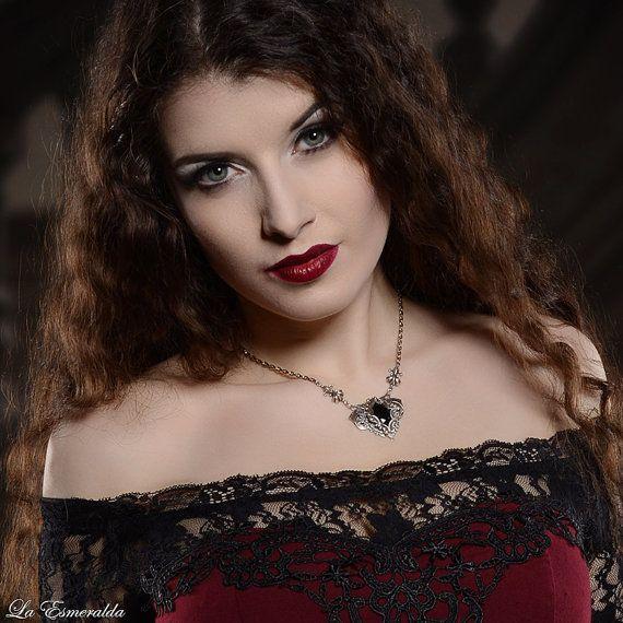 Silver victorian gothic flourish by NoirRomantique on Etsy Model: La Esmeralda Photo: Heiner Seemann / GrautonStudio