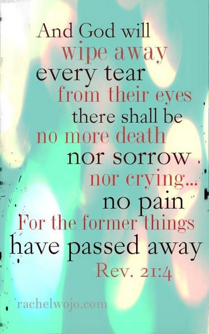 No more tears..