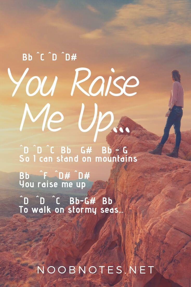 You Raise Me Up - Josh Groban   Piano sheet music letters