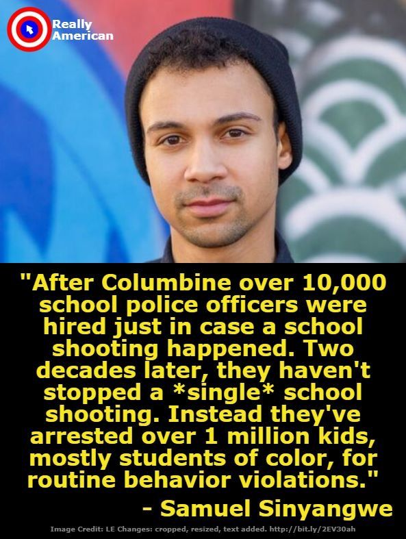 It takes courageously honest leadership to really help our kids. Stop the school to prison pipeline. #lovejustice