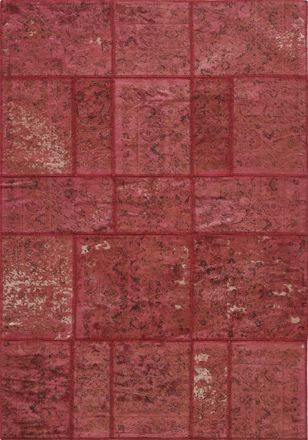 Patchwork - Red - 300 x 230 cm - The Rug Store