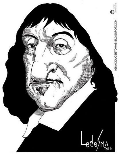 Descartes, tinta sobre papel, 2016
